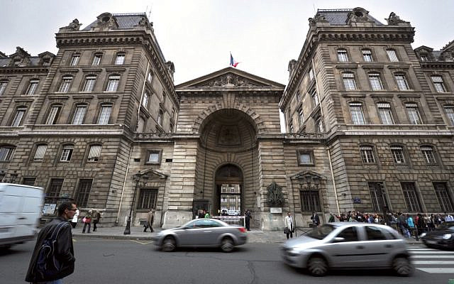 This file photo taken on October 5, 2010 shows a view of the front of the police prefecture building in central Paris. (Eric Feferberg/AFP)