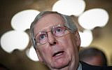 In this file photo taken on September 24, 2019 Senate Majority Leader Mitch McConnell, R-KY, speaks to reporters following the Republican policy luncheon at the US Capitol in Washington, DC.(MANDEL NGAN / AFP)