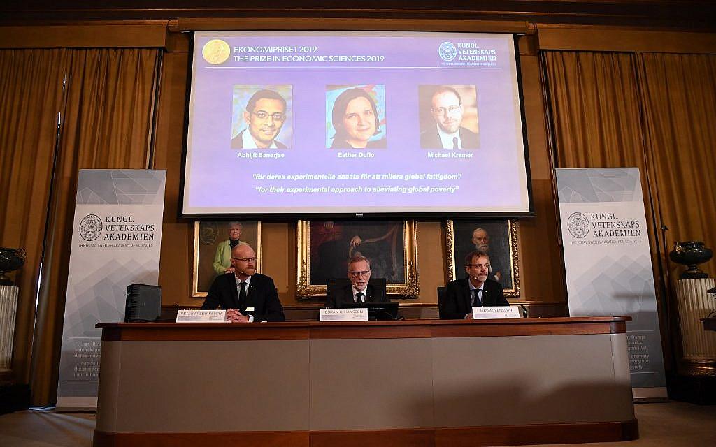 Trio win Nobel Prize in economics for work on poverty