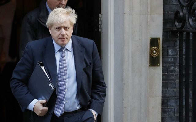 Britain's Prime Minister Boris Johnson leaves 10 Downing Street in central London on October 19, 2019 (Tolga AKMEN / AFP)