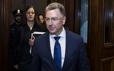 Former Special Envoy to Ukraine Kurt Volker departs following a closed-door deposition led by the House Intelligence Committee on Capitol Hill on October 3, 2019 in Washington, DC. ( Zach Gibson/Getty Images/AFP)