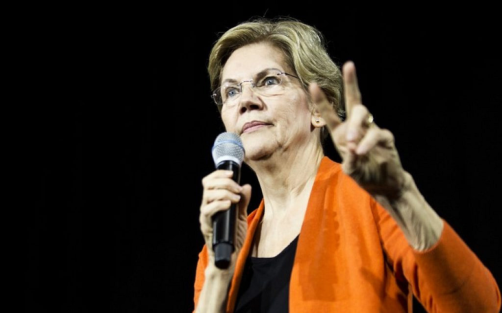 Warren says withholding aid to Israel 'on the table' to curb settlements