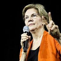 Democratic Presidential Candidate Sen. Elizabeth Warren speaks during a town hall event on October 18, 2019 in Norfolk, Virginia. (Zach Gibson/Getty Images/AFP)