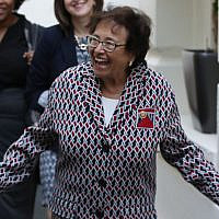 House Appropriations Committee Chairman Nita Lowey (Democrat-New York) leaves a meeting with the House Democratic caucus on September 25, 2019, at the Capitol in Washington. (Mark Wilson/Getty Images via JTA)