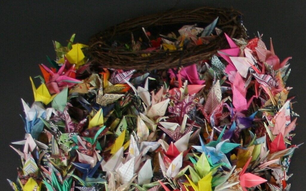Origami cranes sent in memoriam of the Pittsburgh synagogue shooting. (Courtesy of the Tree of Life Congregation and Rauh Jewish History Program & Archives)