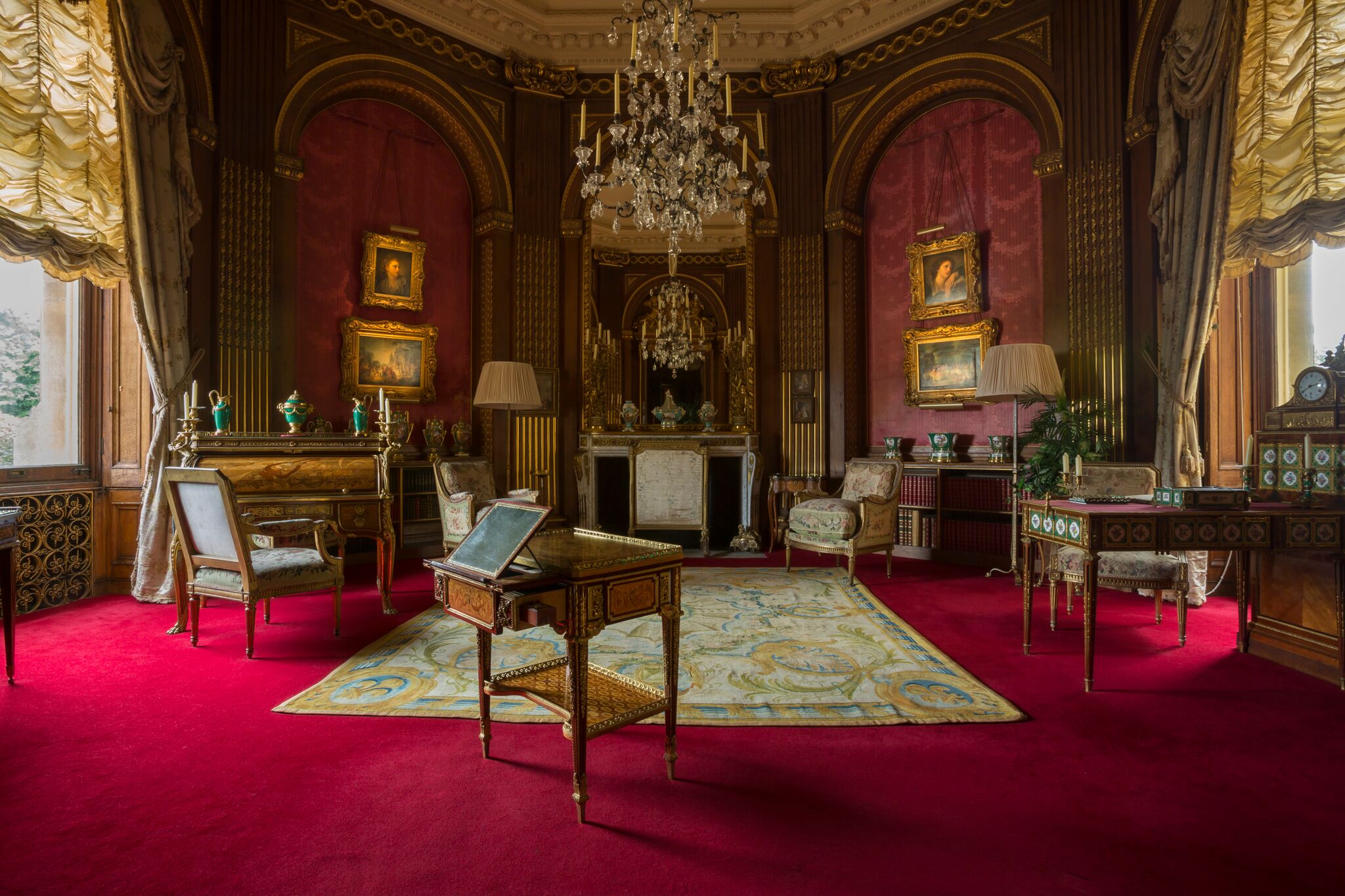 The Tower Drawing Room at Waddesdon Manor. (Chris Lacey (c) National Trust Waddesdon Manor)