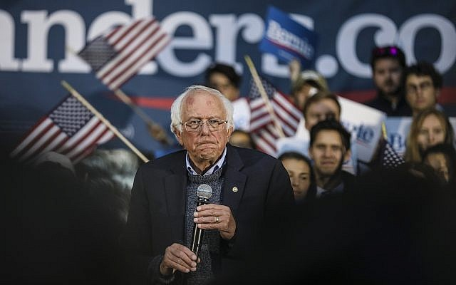 Democratic presidential candidate Sen. Bernie Sanders, a Vermont independent, pauses while speaking at a campaign event, September 29, 2019, at Dartmouth College in Hanover, New Hampshire. (AP Photo/Cheryl Senter)