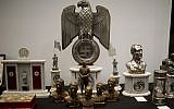 Nazi artifacts discovered by police in 2017 are displayed during a press conference in Buenos Aires, Argentina, October 2, 2019. (Natacha Pisarenko/AP)