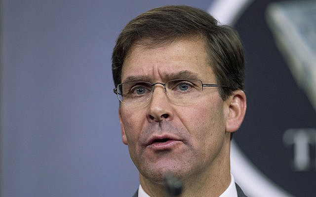 US Secretary of Defense Mark Esper. (AP Photo/Manuel Balce Ceneta, File)