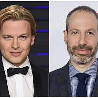 "This combination photo shows Pulitzer Prize-winning US writer Ronan Farrow at the Vanity Fair Oscar Party in Beverly Hills, California on February 24, 2019, left, and NBC News President Noah Oppenheim at the 2016 AFI Festival ""Jackie"" Centerpiece Gala in Los Angeles on November 14, 2016. (AP Photo)"