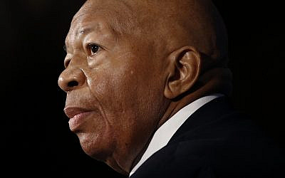 In this August 7, 2019, photo, US Rep. Elijah Cummings, a Maryland Democrat, speaks during a luncheon at the National Press Club in Washington. (AP Photo/Patrick Semansky)
