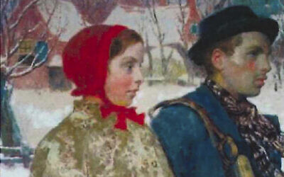 """This undated image taken from evidence filed in a forfeiture case in the U.S. District Court for the Northern District of New York, is of the painting often entitled """"Winter,"""" by the artist Gari Melchers. The painting, stolen by the Nazis in 1933, was recovered by the FBI from a collection at the Arkell Museum in Canajoharie, N.Y. (US Attorney's Office via AP)"""