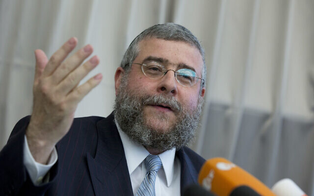 Rabbi Pinchas Goldschmidt, chief of the Conference of European Rabbis, at a news conference in Berlin, Germany, July 12, 2012. (AP Photo/Gero Breloer, file)