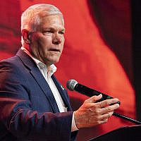 Then-Republic representative Pete Sessions of Texas speaks to supporters after conceding the US House race to Democratic challenger and first-time candidate Colin Allred during the Dallas County Republican Party election night watch party on November 6, 2018 at The Statler Hotel in Dallas. (AP Photo/Jeffrey McWhorter)