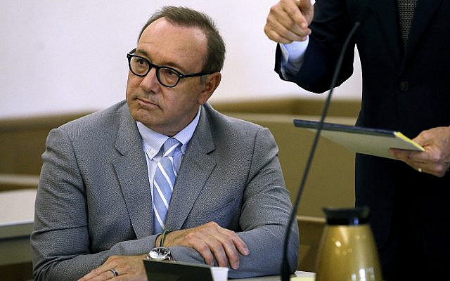 Illustrative: Actor Kevin Spacey attends a pretrial hearing  at district court in Nantucket, Massachusetts, on June 3, 2019. (Steven Senne/AP)