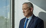 Blue and White party leader Benny Gantz at his party headquarters, in Tel Aviv, September 12, 2019. (AP Photo/Oded Balilty)