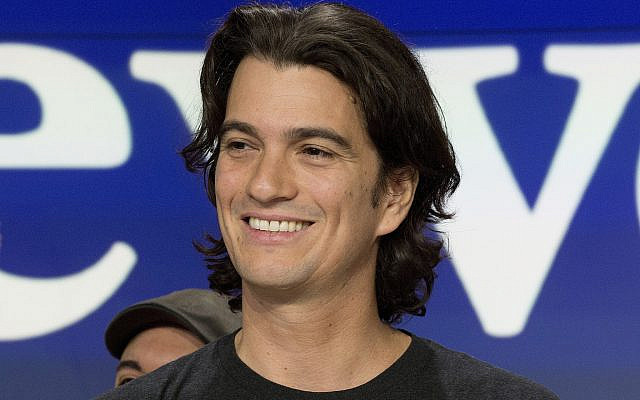 In this photo from January 16, 2018, Adam Neumann, co-founder and then-CEO of WeWork, attends the opening bell ceremony at Nasdaq, in New York. (AP Photo/Mark Lennihan, File)