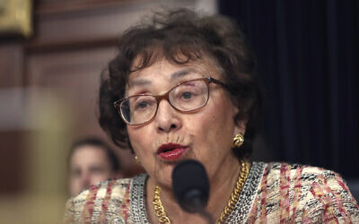 Rep. Nita Lowey, Democrat of New York., during a hearing on Capitol Hill in Washington on April 9, 2019. (AP Photo/Andrew Harnik, File)