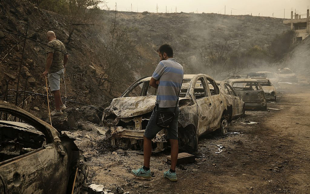Lebanon turns to neighbors, but not Israel, for help fighting forest fires