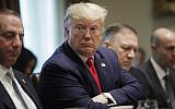 US President Donald Trump speaks during a Cabinet meeting in the Cabinet Room of the White House, Oct. 21, 2019, in Washington (AP Photo/Pablo Martinez Monsivais)
