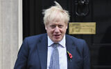 Britain's Prime Minister Boris Johnson leaves 10 Downing Street, in London, Oct. 31, 2019. (AP Photo/Alberto Pezzali)