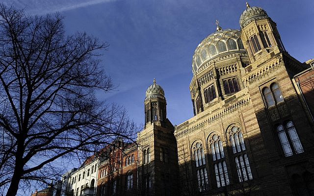 File: The Neue Synagoge (New Synagogue) in Berlin in 2014. (AP Photo/Markus Schreiber)
