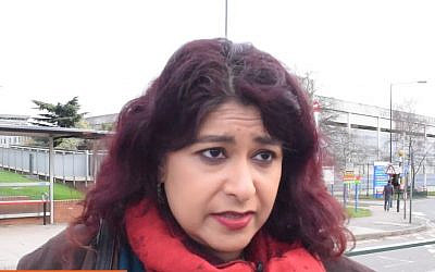 Screen capture from video of UK Labour Party city councilor Aysha Raza. (YouTube)