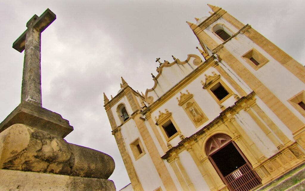 The Olinda Cathedral in Olinda, Brazil, in this still from 'Children of the Inquisition.' (Lovett Productions)