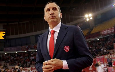 David Blatt before a Euroleague game in Athens, Greece, October 19. 2018. (Panagiotis Moschandreou/Euroleague Basketball via Getty Images and JTA)