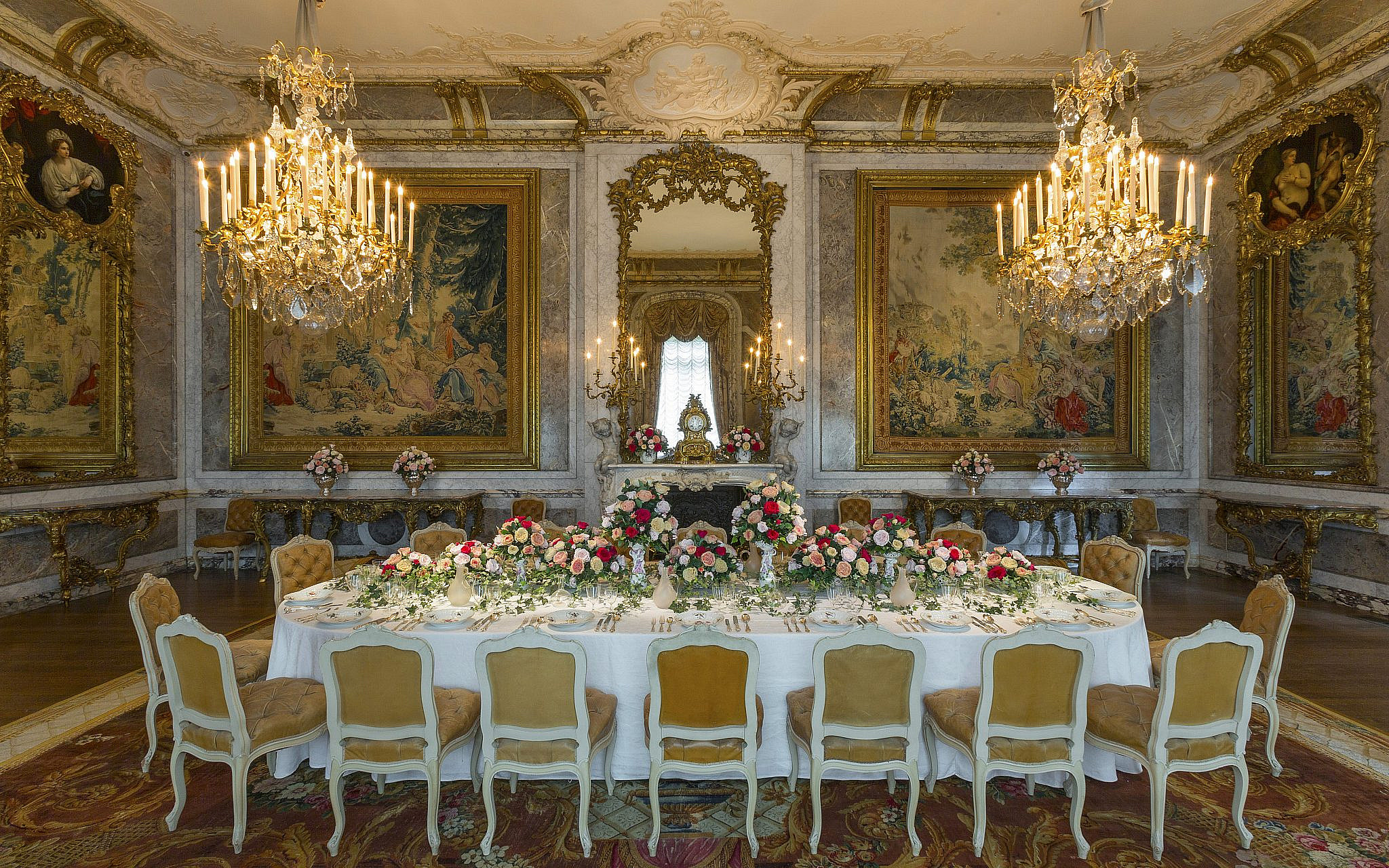 The Waddesdon Manor dining room. (Chris Lacey (c) National Trust Waddesdon Manor)