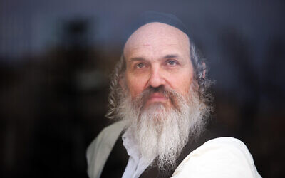 Dudi Zilbershlag, an ultra-Orthodox advertiser, journalist, publisher, activist on January 16, 2011. (Abir Sultan/Flash 90)