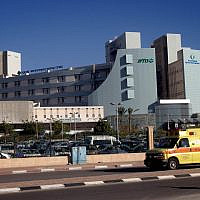 Illustrative: An ambulance outside the Soroka hospital in the southern Israeli town of Beersheba, December 23, 2013. (FLASH90)