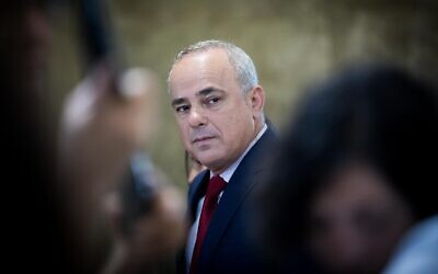 Energy Minister Yuval Steinitz. (Yonatan Sindel/Flash90)