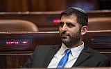 Likud MK Shlomo Karai at the Knesset plenum, ahead of the opening Knesset session of the new government on April 29, 2019. (Noam Revkin Fenton/Flash90)