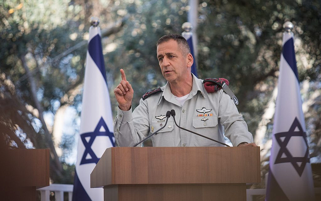 IDF chief said angered by FM's apparent leak from cabinet meeting