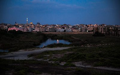 View of Jisr az-Zarqa on July 10, 2019.  (Anat Hemrony/Flash90)