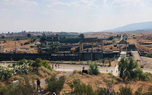 Naharayim, days before it is expected to be reclaimed by Jordan, October 19, 2019 (Amanda Borschel-Dan/Times of Israel)