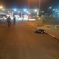 The Te'enim checkpoint in the West Bank where a Palestinian man was shot and killed after running at guards with a knife in his hand on October 18, 2019, the Israeli Defense Ministry said. (Defense Ministry Border Crossing Authority)
