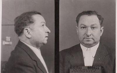 Joseph Joanovici's identity card photo, October 1944. (Public domain via wikimedia commons)
