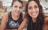 Naama Issachar and her mom Yaffa in a post to Issachar's Instagram page in July 2018.
