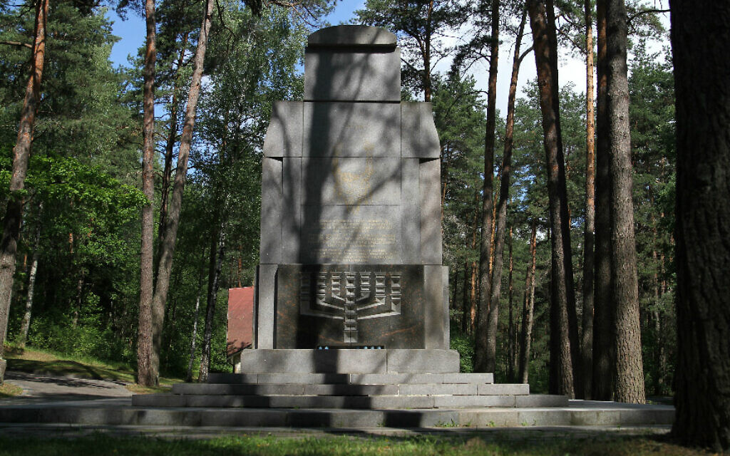 The Holocaust memorial in the Ponar Forest near Vilnius, Lithuania. (Photo/Ezra Wolfinger, Nova)