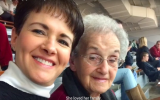 An undated picture of Andrea Wedner (L) with her mother Rose Mallinger, who was killed in the Tree of Life Synagogue shooting on October 27, 2019. (screen capture)