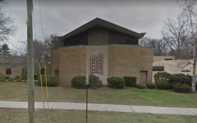 A view of Congregation B'nai Israel in Bridgeport, Conn. (Google Street View via JTA)