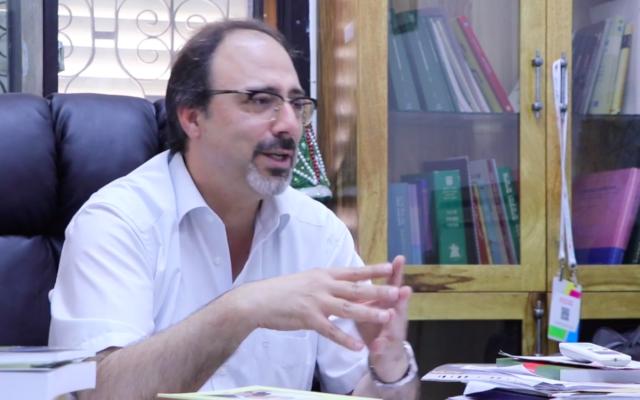 Kafr Yasif Mayor Shadi Shweiri (Screenshot: Elhmra TV)