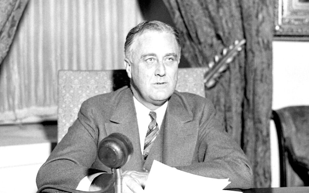 President Franklin D. Roosevelt delivers a 'fireside chat' from the White House. (public domain)