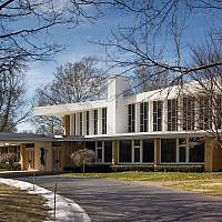 Temple Emanuel in Grand Rapids, Michigan. (Wikimedia Commons via JTA)