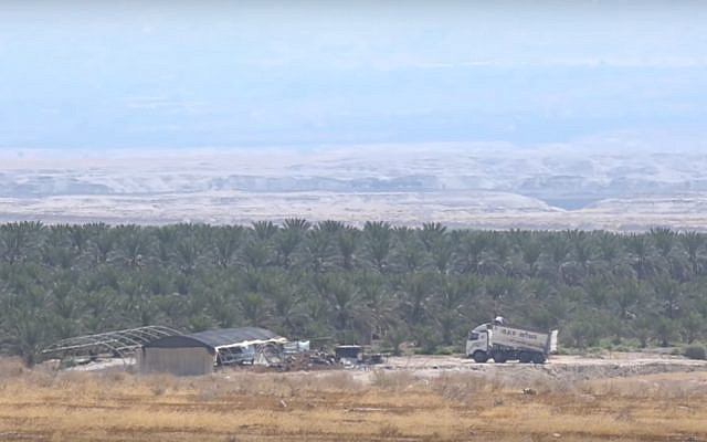 Screen capture from video of the Tzofar area of land between Israel and Jordan. (YouTube)