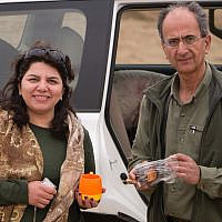 This undated photo provided by the family of the late Iranian-Canadian professor Kavous Seyed-Emami, shows him, right, and his wife, Maryam Mombeini, in an unidentified place in Iran. (Family of Kavous Seyed-Emami via AP)