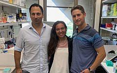From left: Tel Aviv University researchers Dr. Yaron Carmi, Diana Rasuluniriana, Dr. Peleg Ride. (Courtesy/Tel Aviv University)