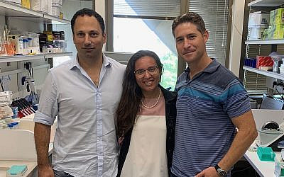 From left: Tel Aviv University researchers Dr. Yaron Carmi, Diana Rasuluniriana, Dr. Peleg Ride. (Courtesy/Tel Aviv University)